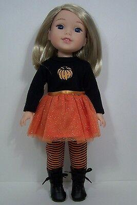 Halloween Pumpkin Dress Doll Clothes For AG 14