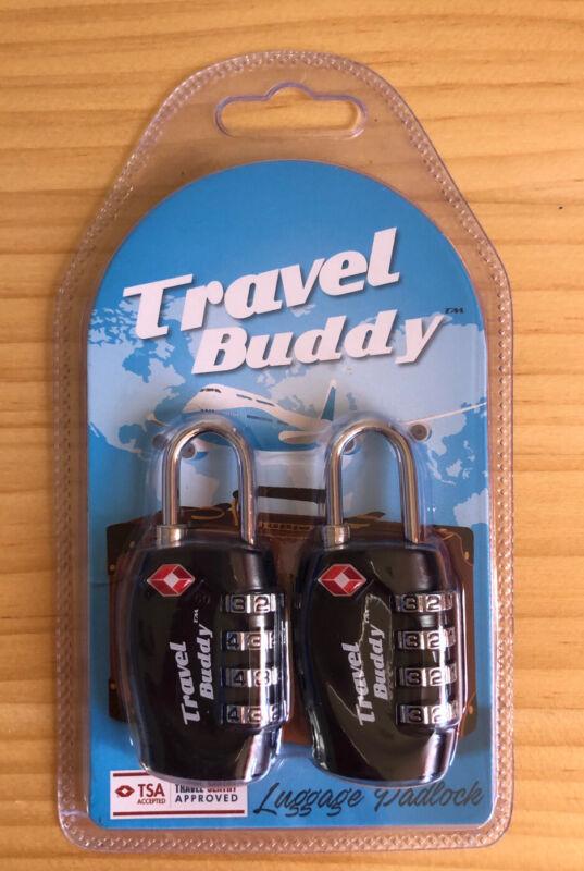 Travel+buddy+2x+TSA+Security+Padlock+-+4-dial+Combination+Luggage+Bag+Code+Lock