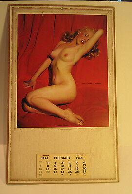 Vintage 1954 Marilyn Monroe Golden Dreams Sample Calendar