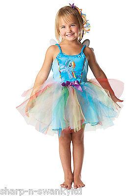 Mädchen Blau Rainbow Dash My Little Pony Tutu Büchertag Kostüm Kleid Outfit ()
