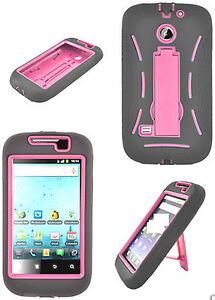 Any Kickstand Hybrid Hard Case+Silicon Skin For HuaWei ASCEND II 2 M865 Phone
