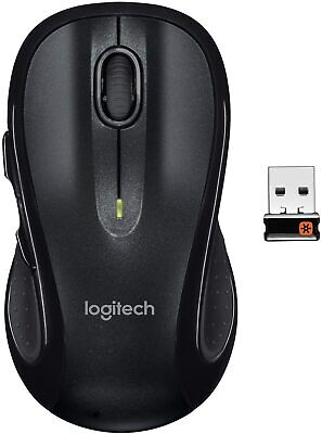 Logitech M510 Wireless Computer Mouse – USB Unifying Receiver - Black