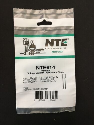 NTE614 - Varactor Voltage Variable Capacitance Diode
