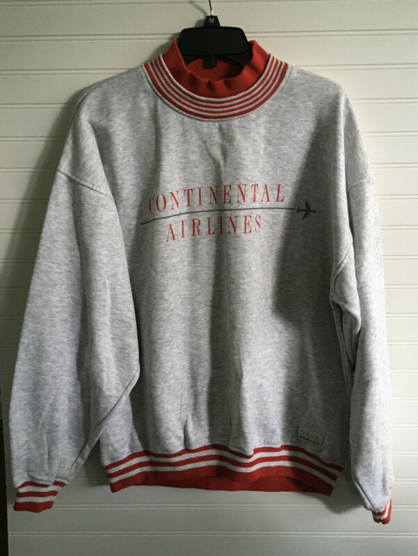 Vintage Continental Airlines Sweatshirt Gray Size L
