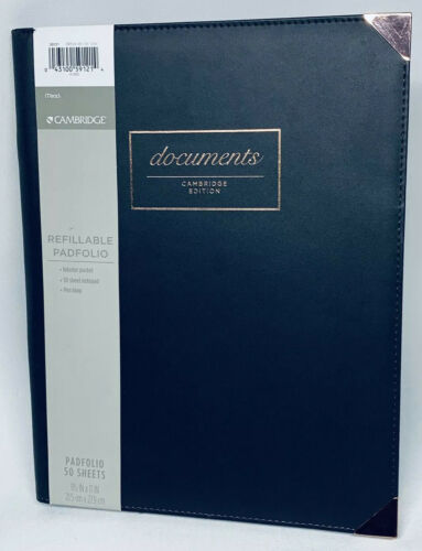 "Cambridge Limited Padfolio 8.5"" X 11"" Notepad Dark Grey"