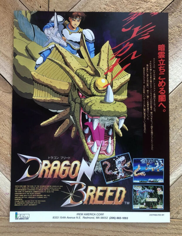 Dragon Breed  IREM ARCADE GAME FLYER NOS