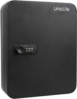 48 Key Cabinet Steel Storage Safe Box Secure Combination Lock Wall Mount Black