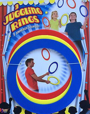 3 JUGGLING RINGS Kids Beginner Set Juggle Prop Arts Hoops Spinning Tricks Kit ](Juggling Sets)