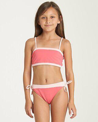 Billabong Jugendliche Mädchen Sol Searcher Tank Bikini Satz Bademode Sunset Pink