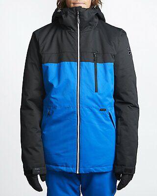 Billabong Mens All Day Ski & Snowboard Jacket Royal Blue Black L New