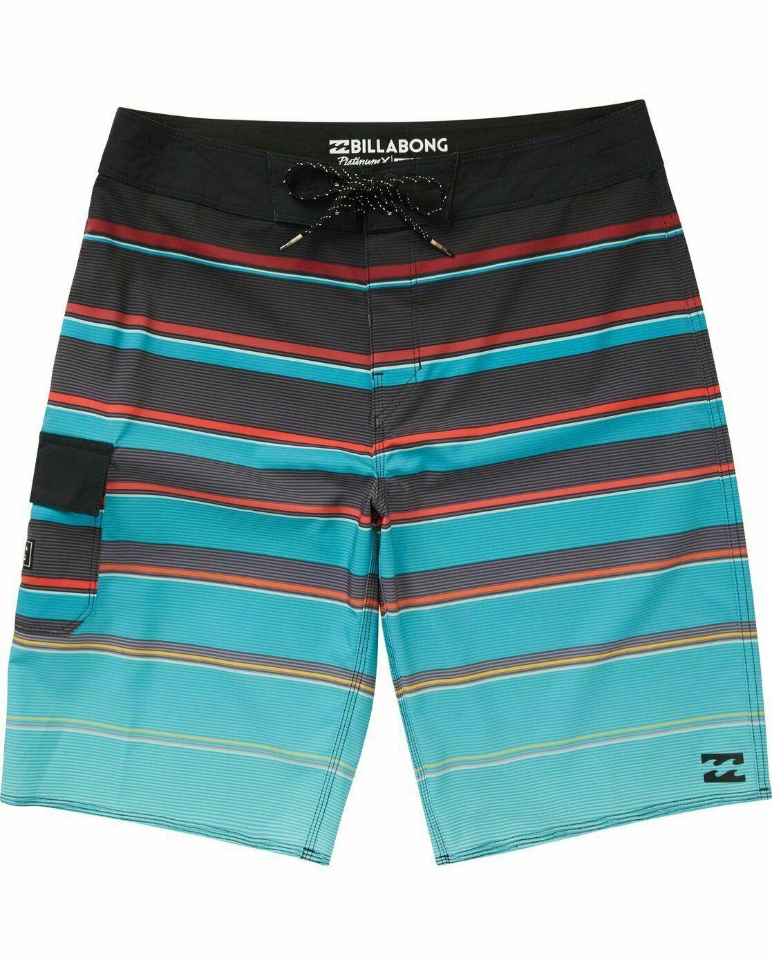 Billabong Men's Platinum X All Day Board Shorts Size 44 Aqua