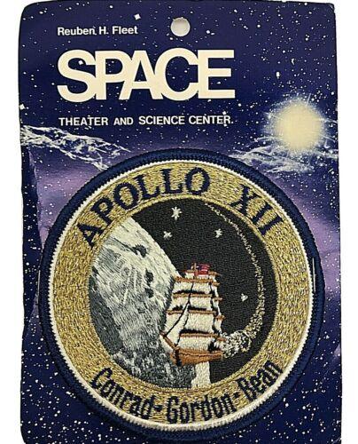 VTG. New Reuben H. Fleet Space Theater & Science Center Patch Apollo XII Free SH