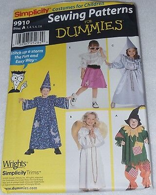 SIMPLICITY Patterns: 9910 Halloween Childrens Costumes Sewing for Dummies 3-8](Halloween Costumes For A Baby)