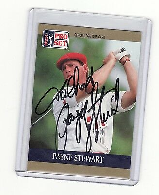 PAYNE STEWART GOLF PERSONALIZED AUTOGRAPHED CARD