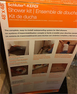 Kerdi Shower complete waterproofing kit *new*