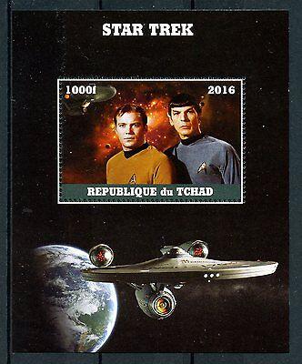 Chad 2016 MNH Star Trek Original Series Kirk Spock 1v M/S Leonard Nimoy Stamps