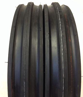 2 New 400-12 Farm Tri Rib 4ply 400x12 4.00-12 3 Rib Tractor Tires