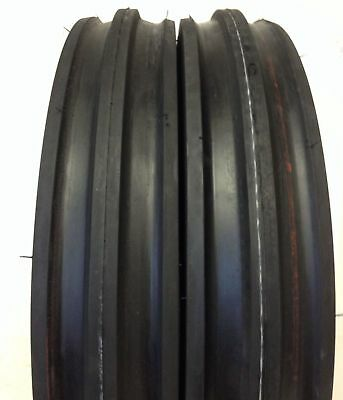 2 New 400-12 Deestone Tri Rib 4ply 400x12 4.00-12 3 Rib Tractor Tires