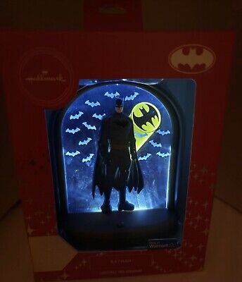 "Hallmark 2019 Batman ""Light Up"" Christmas Ornament Walmart Exclusive Red Box ()"