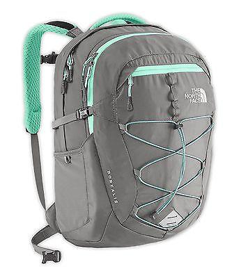 THE NORTH FACE Womens Borealis Backpack Zinc Grey/Surfer Green