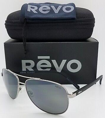 NEW Revo Shaw sunglasses RE 5021 00 GY 61mm Black Grey Polarized Aviator (Revo Aviators)