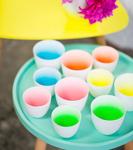 BULK BUY FLURO CERAMIC TEA LIGHT CUPS (50c per cup) Marrickville Marrickville Area Preview