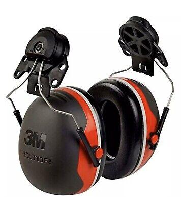 3m Hearing Protection Cap Mount Earmuffs Hard Hat Ear Muffs Noice Nrr 25 Db Red