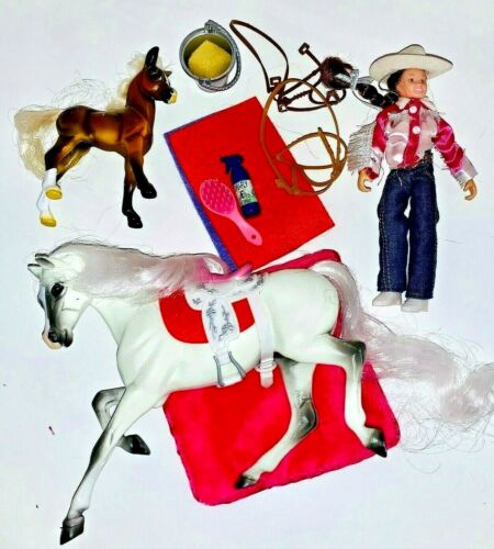 2007 Model Breyer Ponies Horse & Foal Western Set No Box