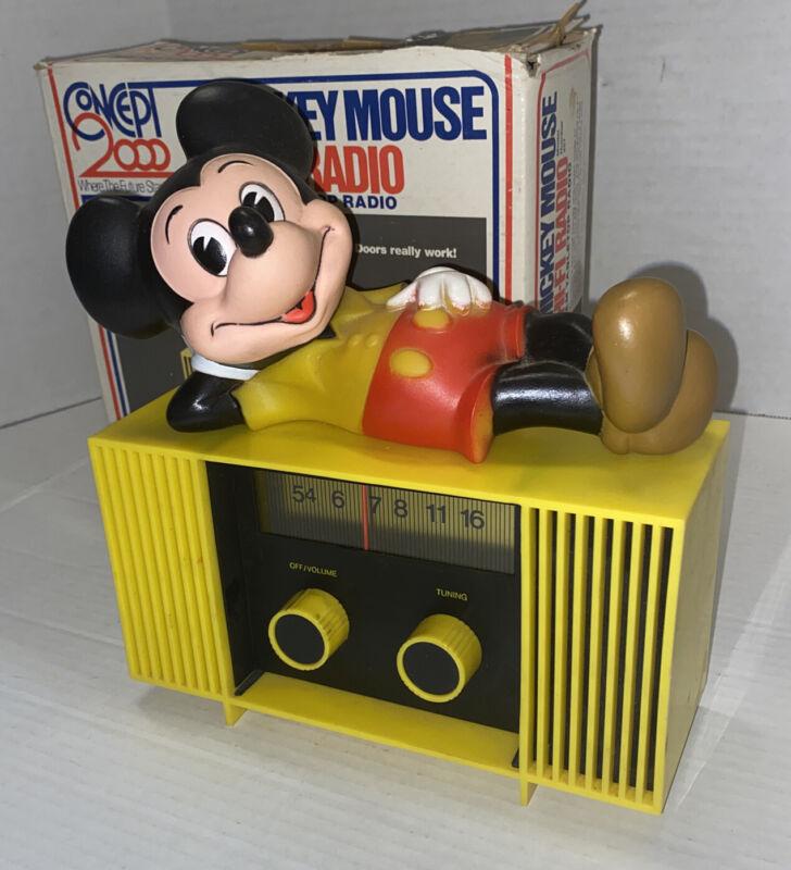 HAS iSSUES Vintage Disney 1960s Mickey Mouse HI-FI Radio AM Tabletop Hong Kong