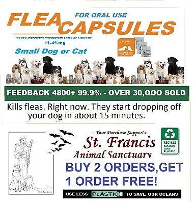 10 Caps SM Same Ingred. Equal To Capstar Flea Treatment Killer Remedy Dog Cat