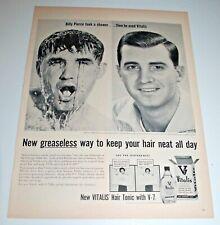 vitalis hair tonic vintage vintage original 1957 vitalis hair tonic magazine print ad