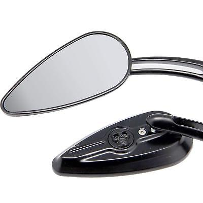 BLACK Skull Rearview Mirrors 4 Suzuki Boulevard M109R M50 M90 M95 C109R C50 C90 for sale  Shipping to Canada