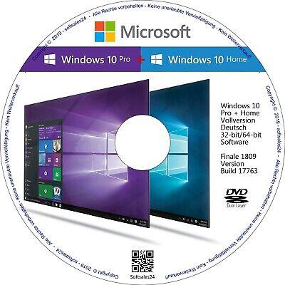 7 Betriebssystem (✅☑ WINDOWS 10 HOME + PRO CD DVD FÜR NEUINSTALLATION ODER UPGRADE WINDOWS 7, 8 👍)