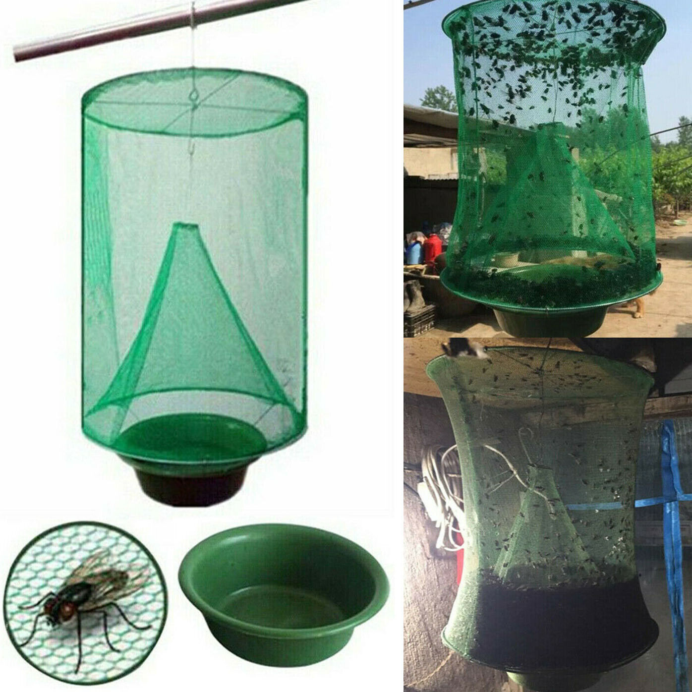 The Ranch Fly Trap The Most Effective Made Powerful Capture Of Suspen Home & Garden