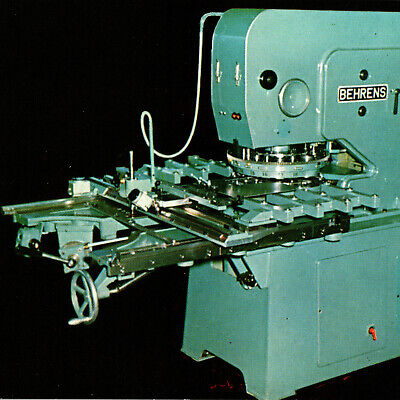 Vintage 1960s Behrens Turret Punch Press Austin Hastings Postcard Cambridge MA