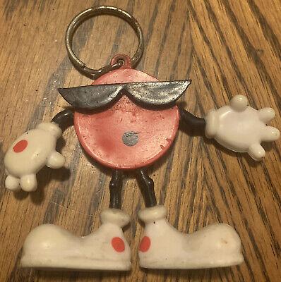 Vintage 7-up COOL SPOT Soda Mascot Orig. Pkg PVC Bendable Figure Key Chain