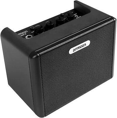 ammoon Guitar Amplifier Mini Desktop Guitar Amplifier 3.2W Amp Built-in Distorti