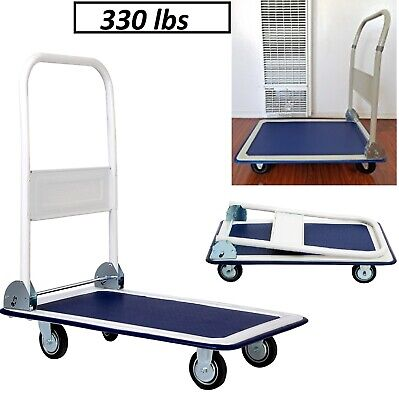 Hand Truck Platform Push Foldable Cart Folding Dolly 330 Lbs Warehouse Moving 17