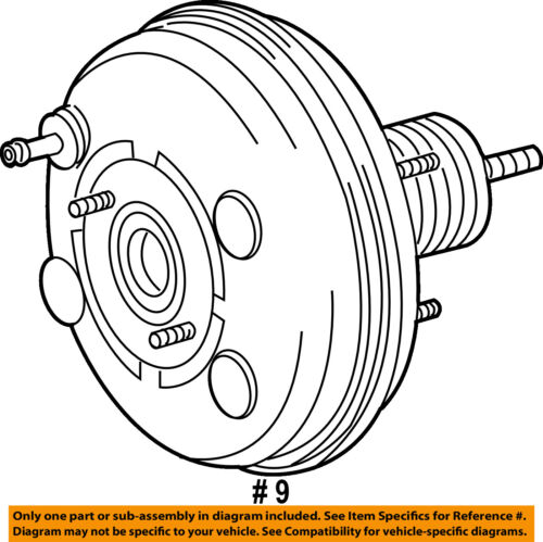 Toyota Oem 08 09 Highlander Power Brake Vacuum Booster 4461048291