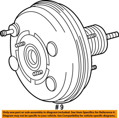 Toyota Oem 10 13 Highlander Power Brake Vacuum Booster 446100e060