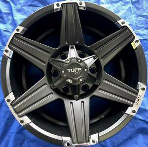 SET OF FOUR (4) TUFF 17x9 6/139.7 et15 T-12 Frankston Frankston Area Preview