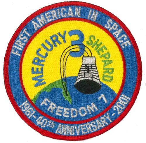 NASA PATCH 4.5 inch vtg MERCURY 3 / Freedom 7 -