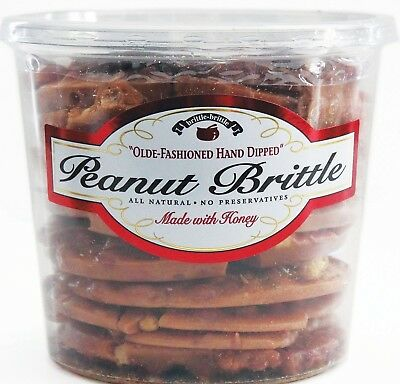 Brittle-Brittle Gourmet Peanut Brittle 42oz snack hard candy old fashioned NOTAX