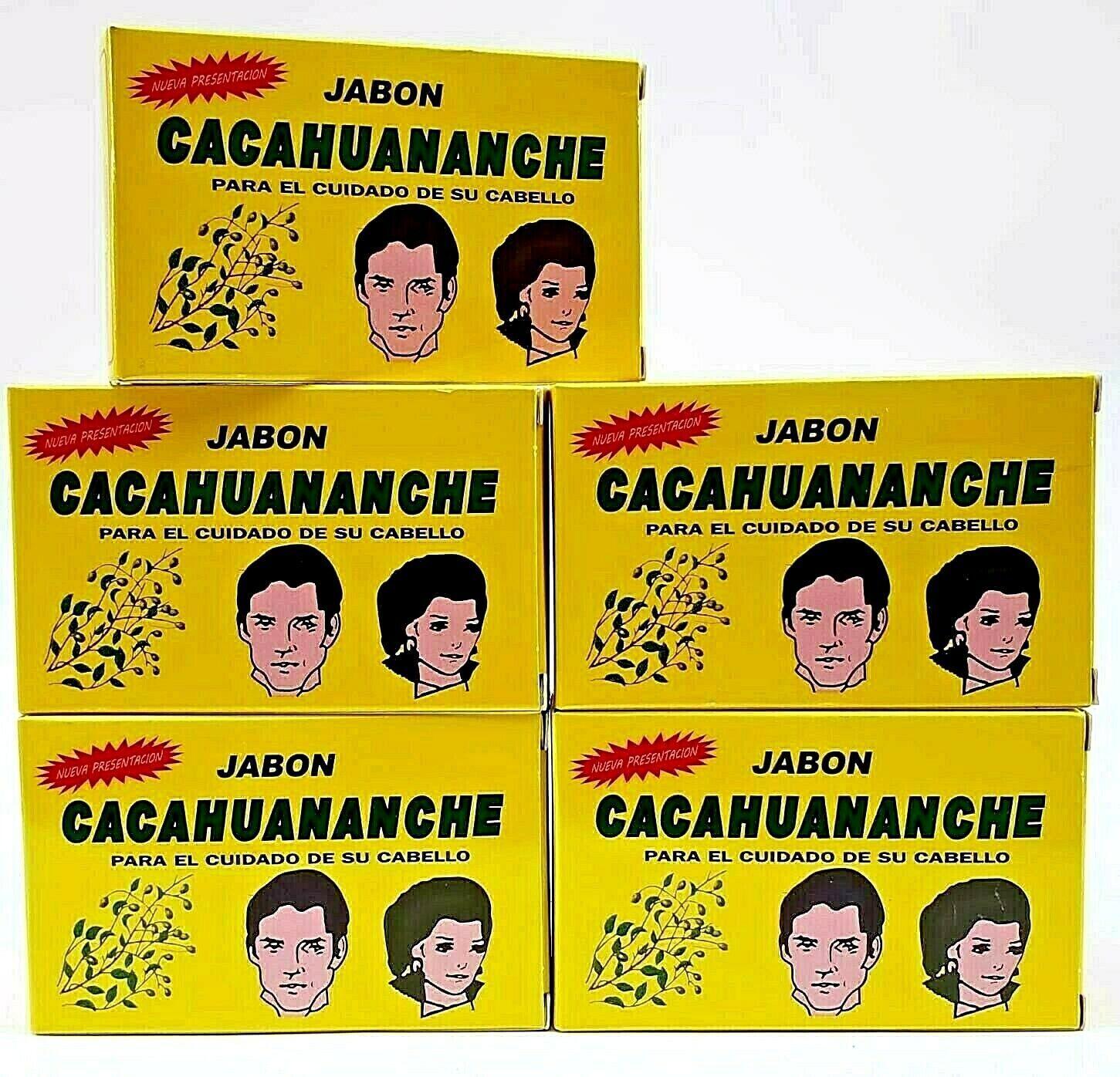 5 Packs Jabon Cacahuananche Cacahuananche Soap 3.17oz Oscurece Canas