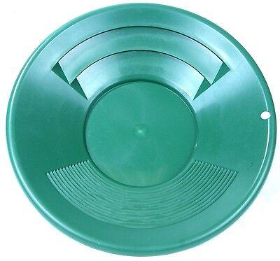 Goldwaschset SONA 7-teilig, grün 2x Goldwaschpfanne 35 cm + 25 cm, Sieb 12,7 mm