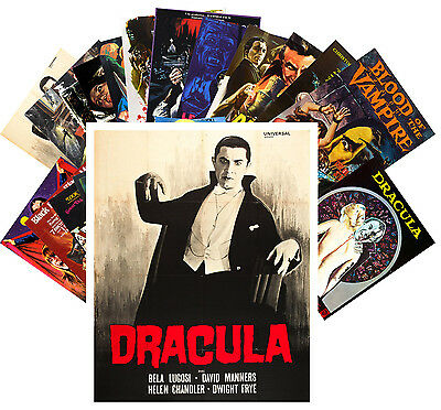 Postcards Pack [24 cards] Vampires Dracula Vintage Horror Thriller Movie CC1068