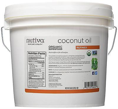 Nutiva Inherent Coconut Oil, Refined, 1 Gallon