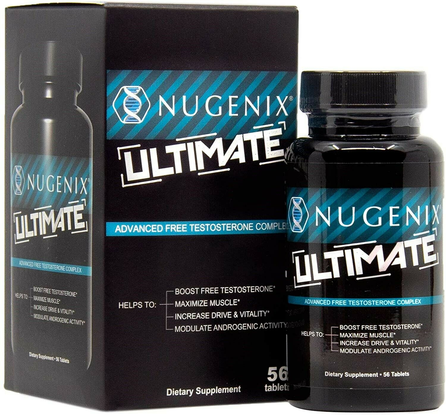 Nugenix Ultimate Testosterone Booster for Men, Maximizes Muscle, Boost Vitality