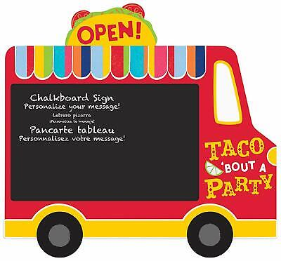 FIESTA TIME CHALKBOARD EASEL SIGN Party Decorations Taco Truck Menu Room Wall](Taco Party Decorations)