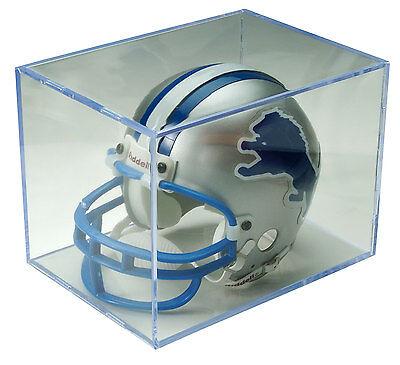 (12 MINI NFL FOOTBALL HELMET CUBE DISPLAY CASES FB01)